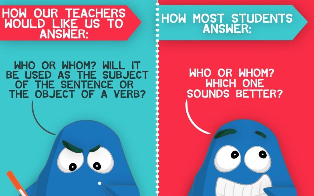 Grammar Exams: Who or whom?