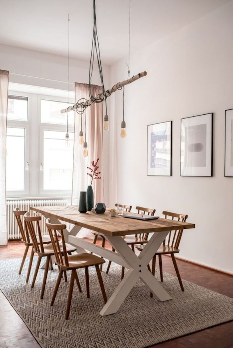 30 Best Farmhouse Table Dining Room Decor Ideas (14)