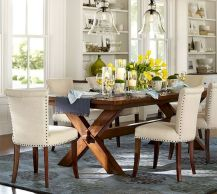 30 Best Farmhouse Table Dining Room Decor Ideas (16)