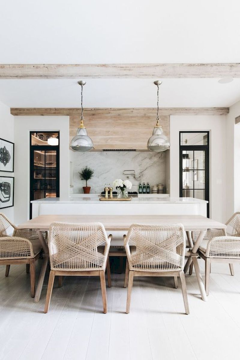 30 Best Farmhouse Table Dining Room Decor Ideas (19)
