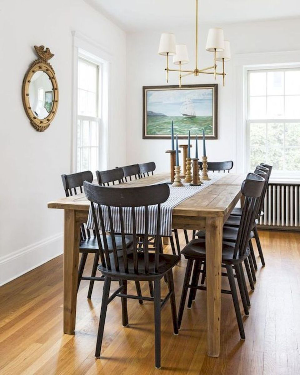 30 Best Farmhouse Table Dining Room Decor Ideas (20)