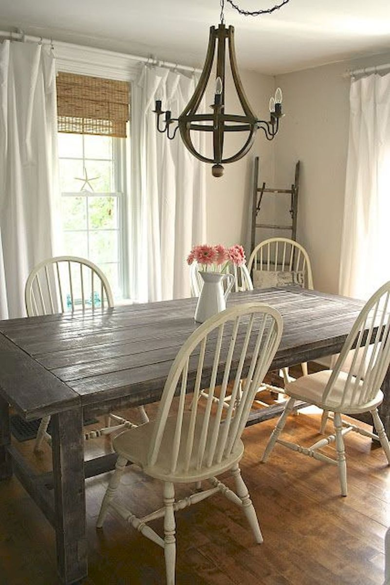 30 Best Farmhouse Table Dining Room Decor Ideas (28)