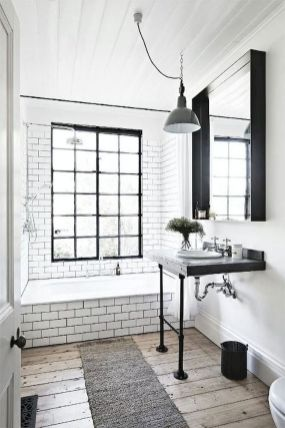 35 Stunning Modern Farmhouse Bathroom Decor Ideas Make You Relax In 2019 (25)