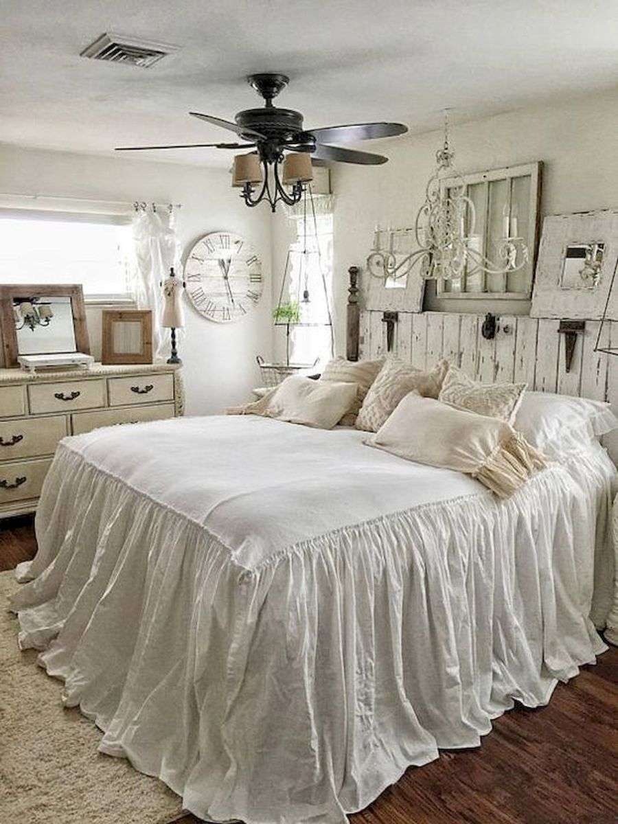 50 Awesome Farmhouse Bedroom Decor Ideas And Remodel (28)