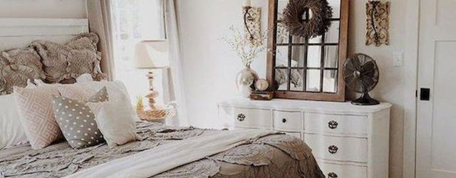 50 Awesome Farmhouse Bedroom Decor Ideas And Remodel (37)