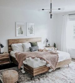 50 Awesome Farmhouse Bedroom Decor Ideas And Remodel (45)