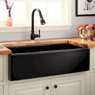 50 Beautiful Farmhouse Kitchen Sink Design Ideas And Decor (31)