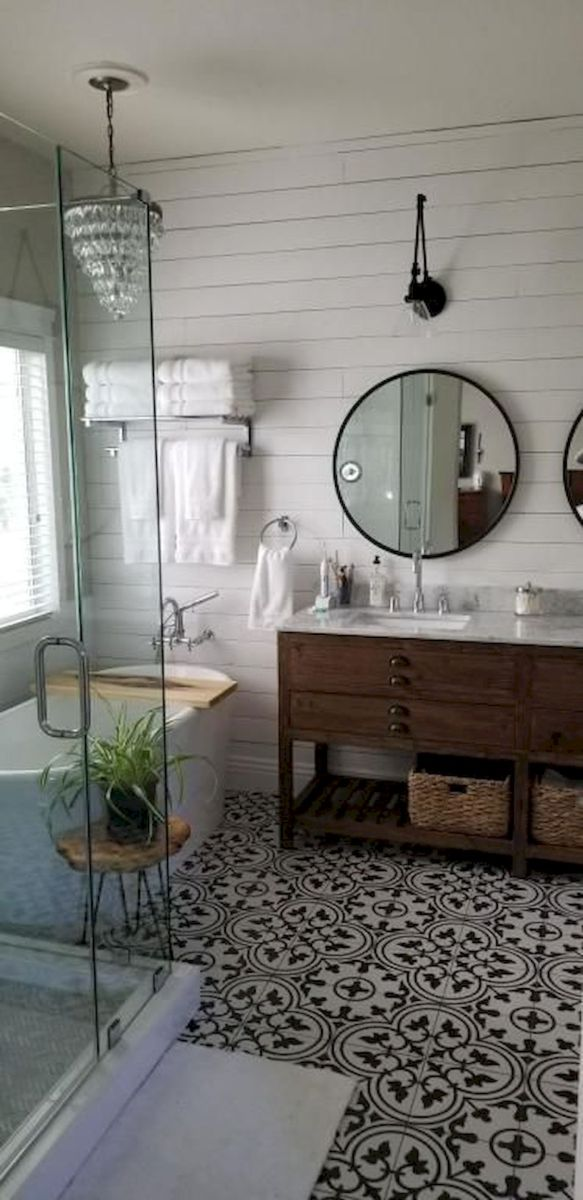 50 Best Farmhouse Bathroom Tile Design Ideas And Decor (4)