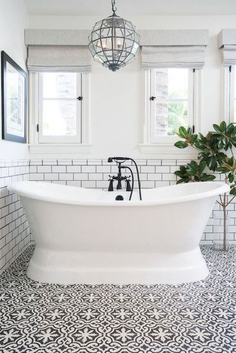 50 Best Farmhouse Bathroom Tile Design Ideas And Decor (45)