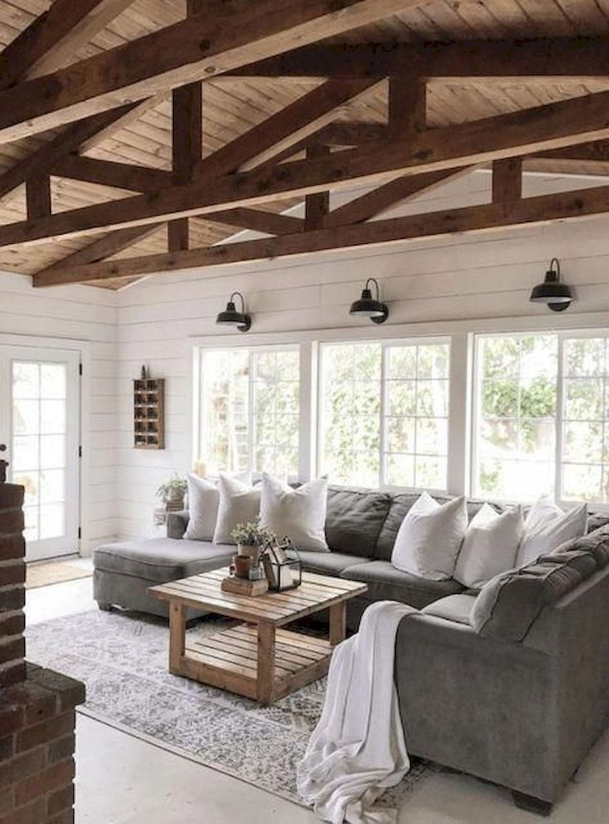 50 Best Modern Farmhouse Decor Ideas For Living Room (1)