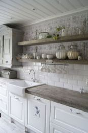 55 Fantastic Farmhouse Kitchen Backsplash Design Ideas And Decor (33)