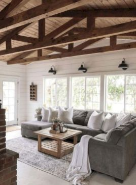 55 Incredible Farmhouse Living Room Sofa Design Ideas And Decor (23)