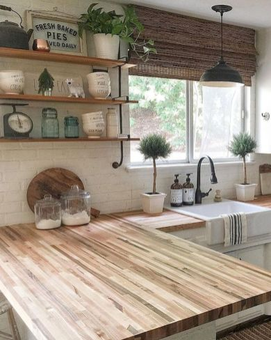 60 Great Farmhouse Kitchen Countertops Design Ideas And Decor (29)