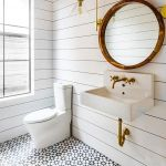 66 Adorable Farmhouse Bathroom Decor Ideas And Remodel (25)