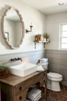 66 Adorable Farmhouse Bathroom Decor Ideas And Remodel (36)