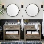 66 Adorable Farmhouse Bathroom Decor Ideas And Remodel (41)