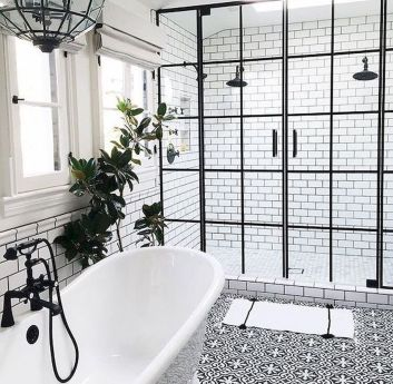 66 Adorable Farmhouse Bathroom Decor Ideas And Remodel (44)