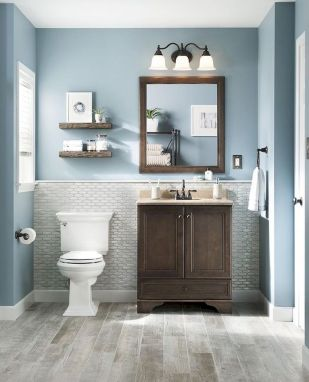 66 Adorable Farmhouse Bathroom Decor Ideas And Remodel (57)