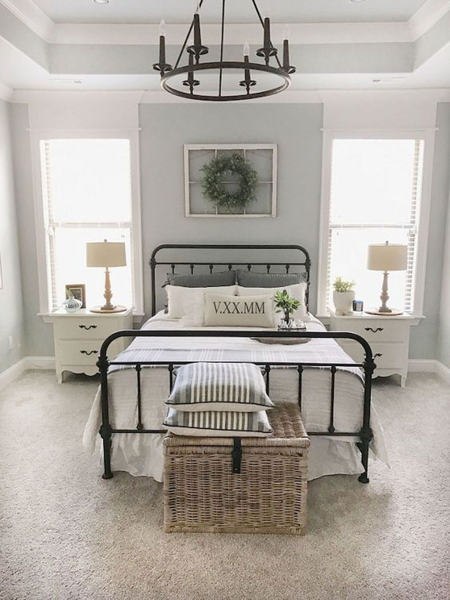 69 Best Farmhouse Bedding Decor Ideas And Remodel (65)