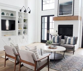 70 Best Farmhouse Living Room Decor Ideas And Remodel (18)