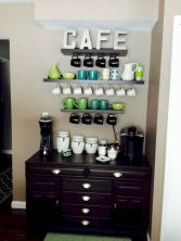60 Suprising Mini Coffee Bar Ideas for Your Home (22)