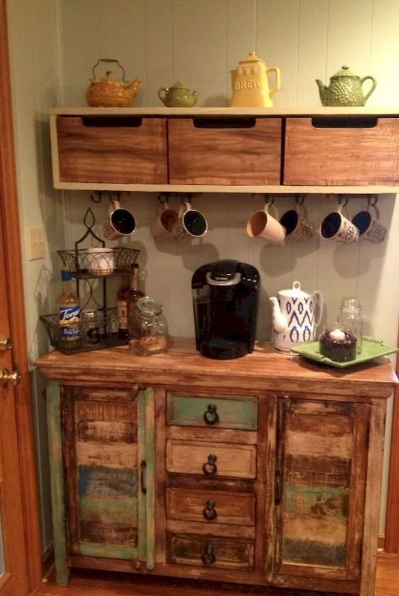 60 Suprising Mini Coffee Bar Ideas for Your Home (38)