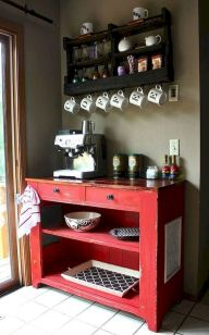 60 Suprising Mini Coffee Bar Ideas for Your Home (46)