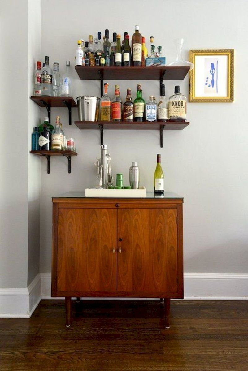 60 Suprising Mini Coffee Bar Ideas for Your Home (50)
