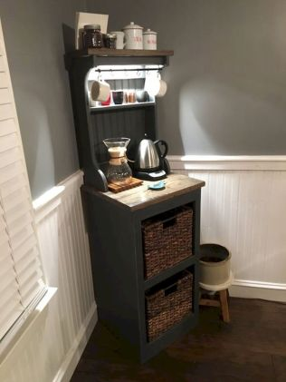 60 Suprising Mini Coffee Bar Ideas for Your Home (59)