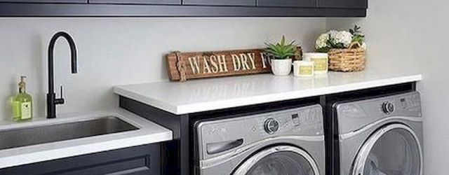75 Awesome Laundry Room Storage Decor Ideas (61)