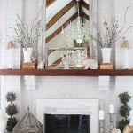 37 Beautiful Easter Fireplace Mantle Ideas (23)