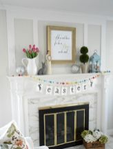 37 Beautiful Easter Fireplace Mantle Ideas (30)