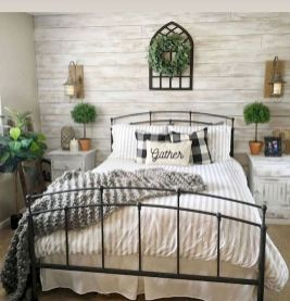 47 Most Popular Bedding for Farmhouse Bedroom Design Ideas and Decor (35)
