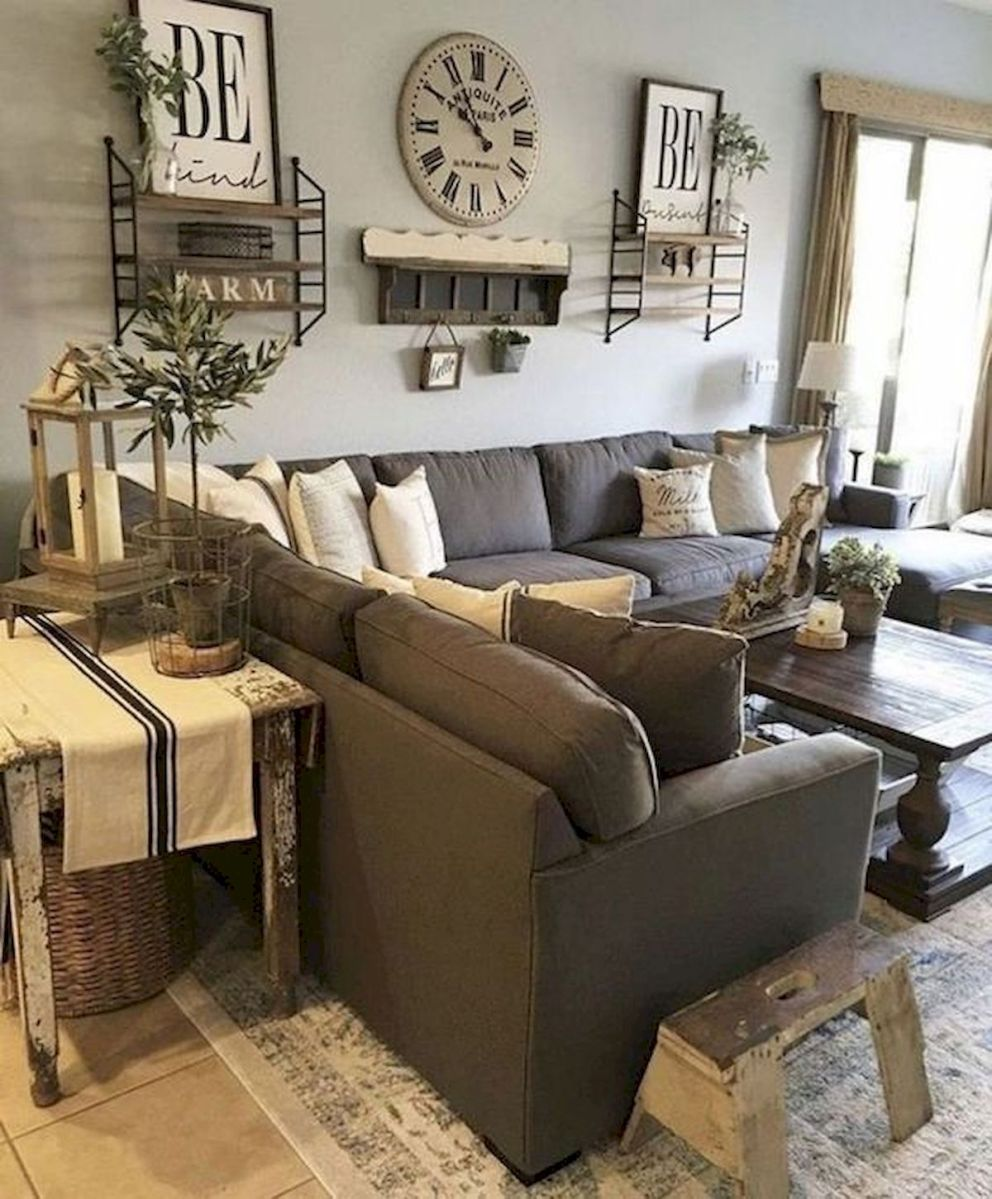 105 Best Farmhouse Living Room Decor Ideas (5)