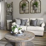 105 Best Farmhouse Living Room Decor Ideas (83)