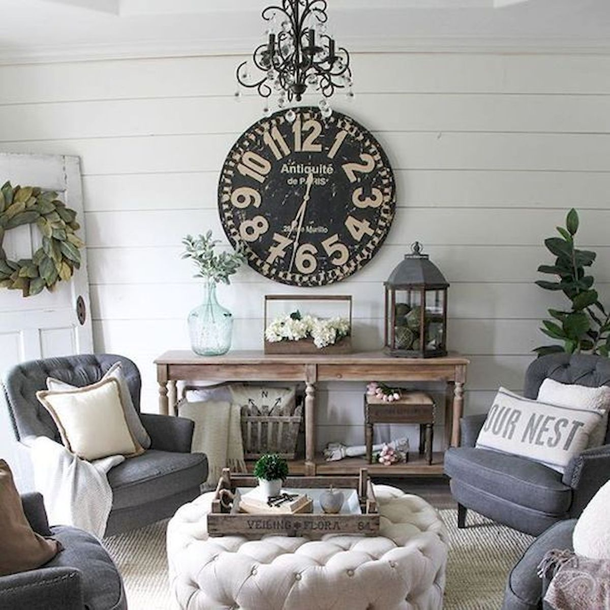 105 Best Farmhouse Living Room Decor Ideas (88)