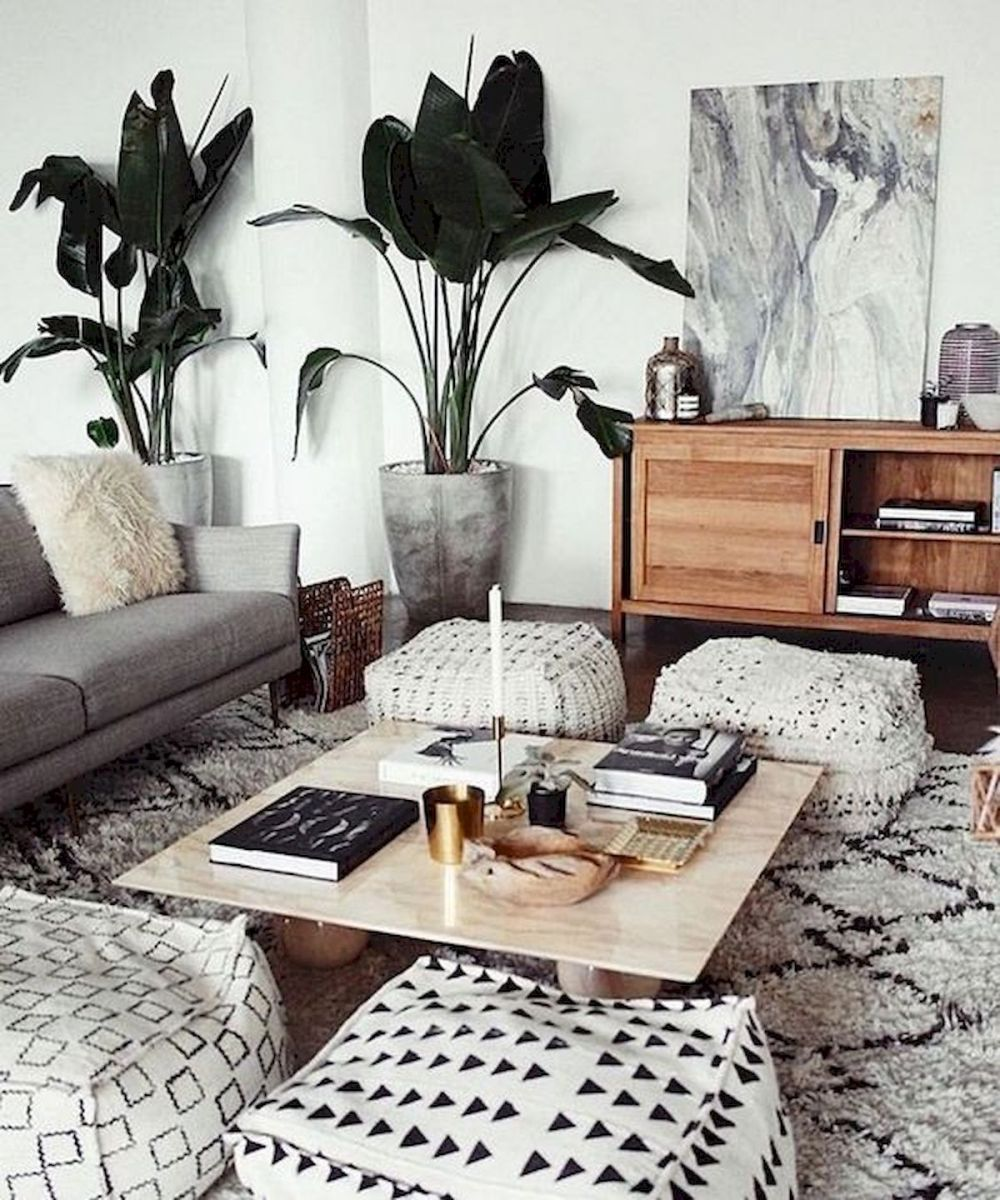 55 Bohemian Living Room Decor Ideas (12)