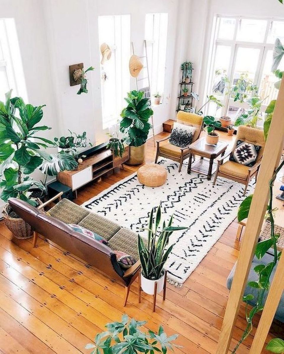 55 Bohemian Living Room Decor Ideas (28)