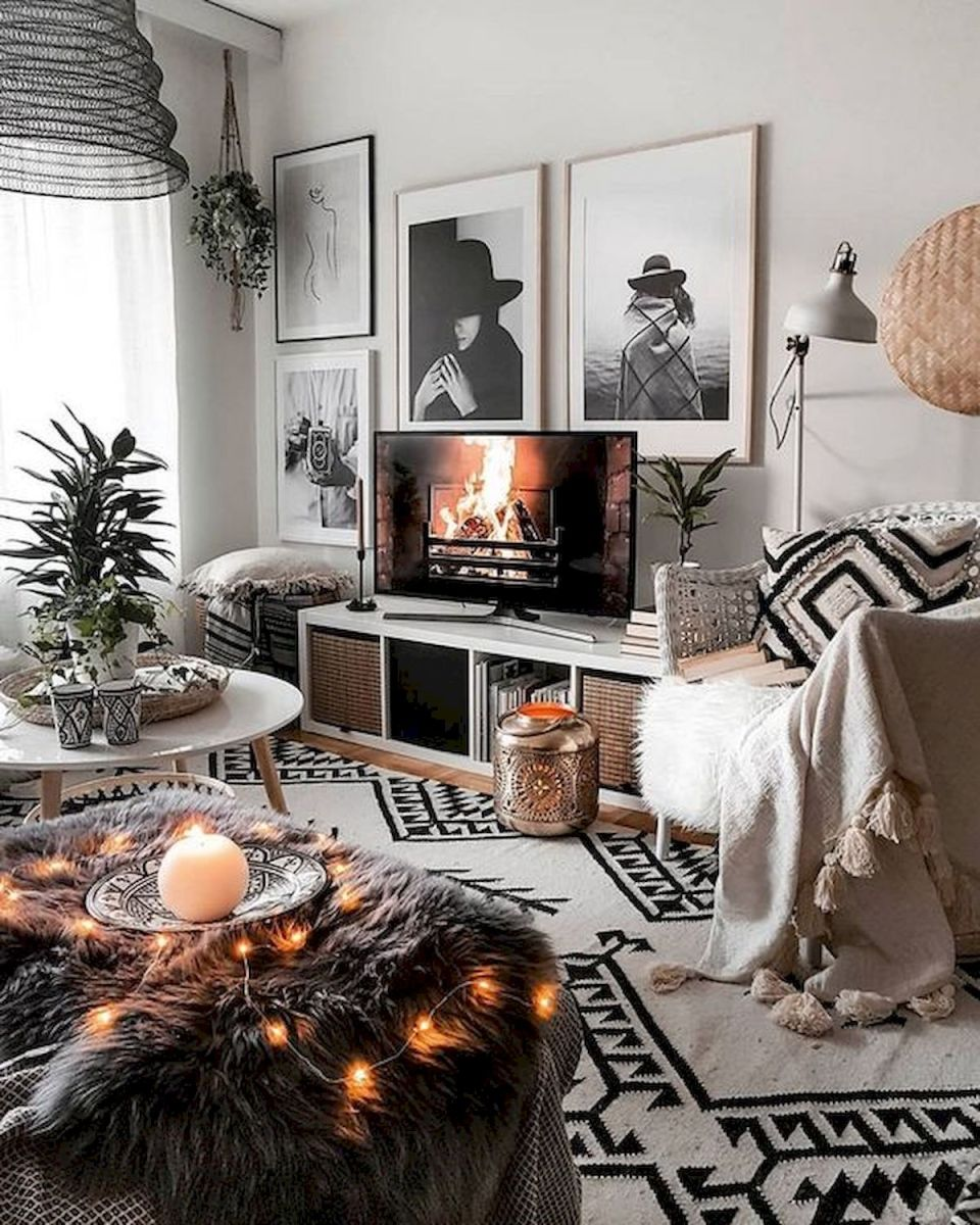 55 Bohemian Living Room Decor Ideas (37)
