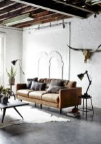 72 Industrial Living Room Decor Ideas (16)