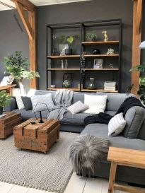 72 Industrial Living Room Decor Ideas (22)