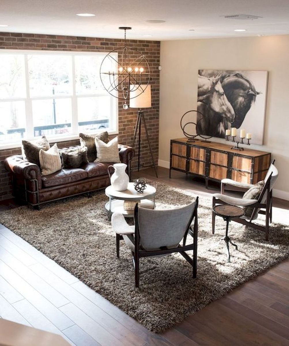 72 Industrial Living Room Decor Ideas (37)