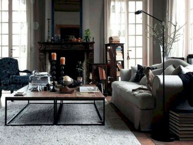 72 Industrial Living Room Decor Ideas (47)