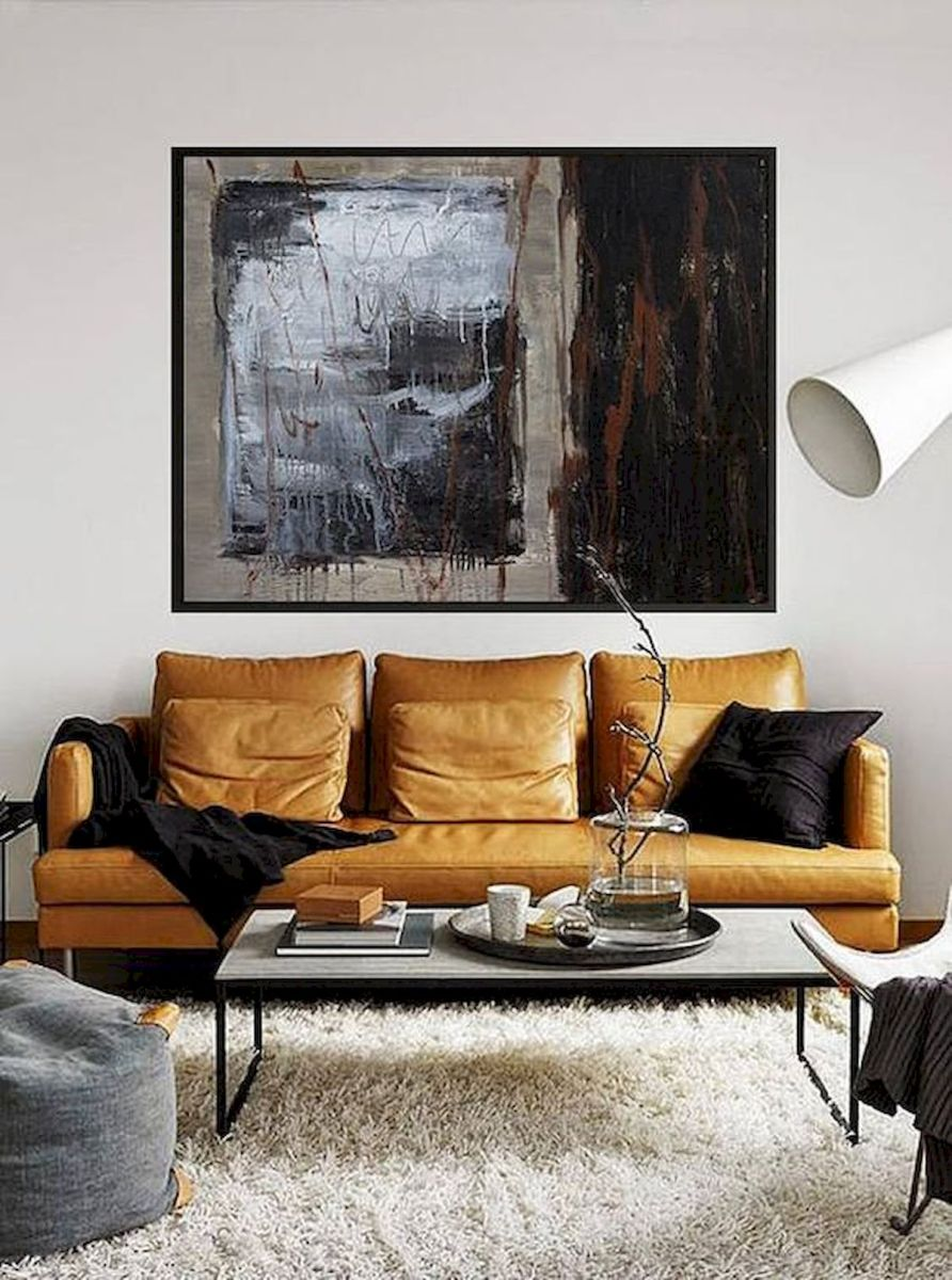 72 Industrial Living Room Decor Ideas (48)