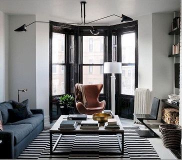 72 Industrial Living Room Decor Ideas (52)