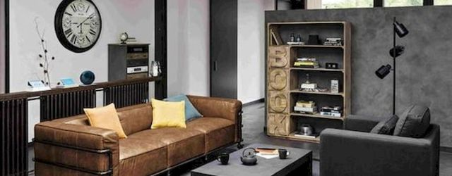 72 Industrial Living Room Decor Ideas (58)