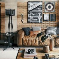 72 Industrial Living Room Decor Ideas (62)