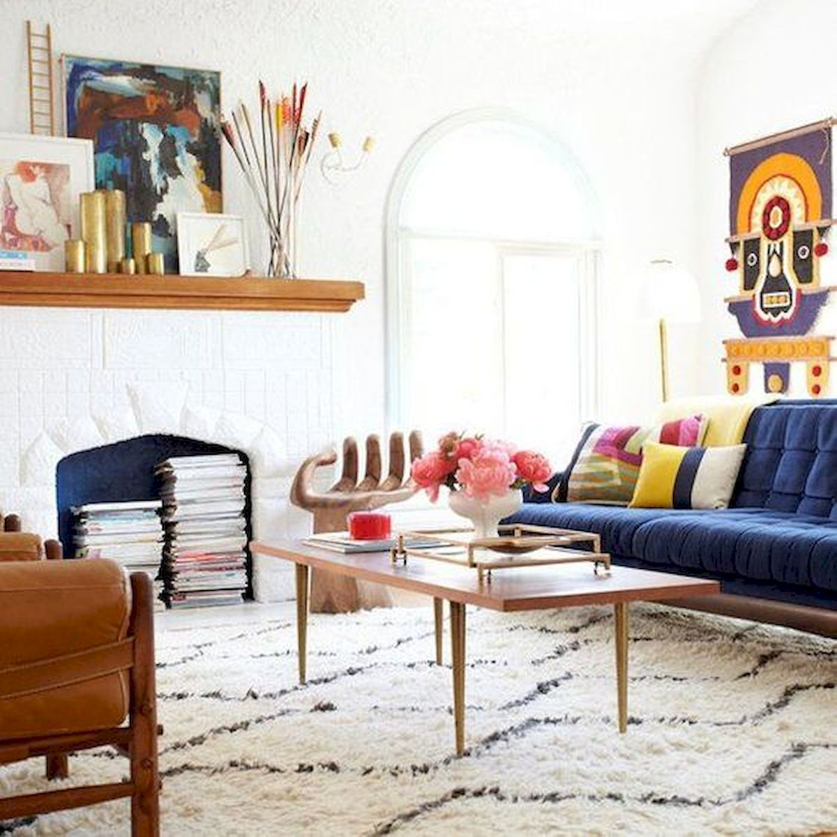 73 Eclectic Living Room Decor Ideas (2)