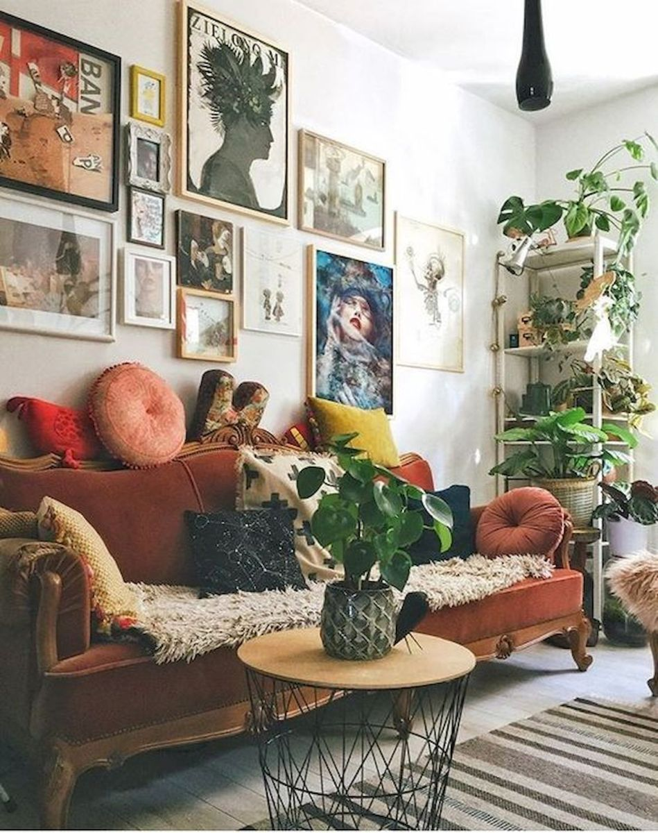 73 Eclectic Living Room Decor Ideas (5)