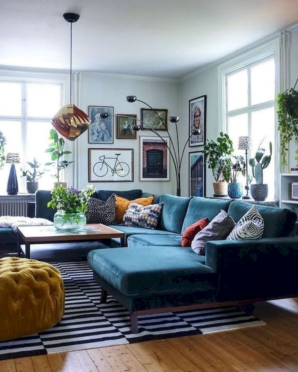 73 Eclectic Living Room Decor Ideas (71)